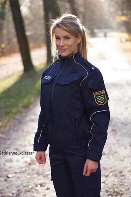 01-A polícial mais bonita do mundo é alemã - Atecubanos.com-02